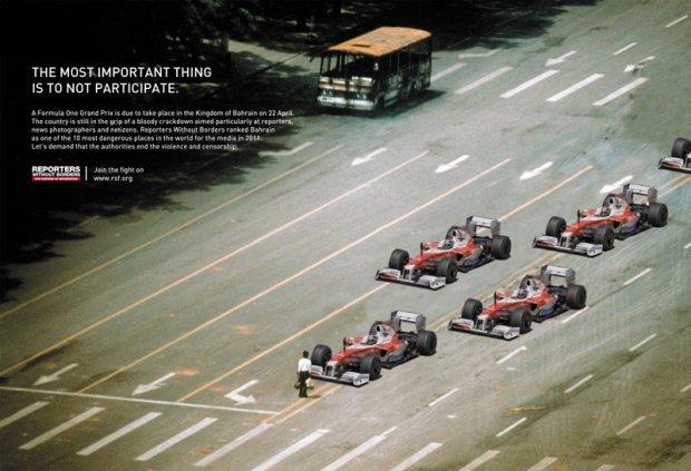 [Campagne RSF contre le        grand prix de Formule 1 au Bahreïn]